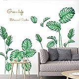 Pas cher Stickers muraux bricolage plage tropicale feuilles de palmier Stickers muraux Art moderne vinyle autocollant Mural big sales