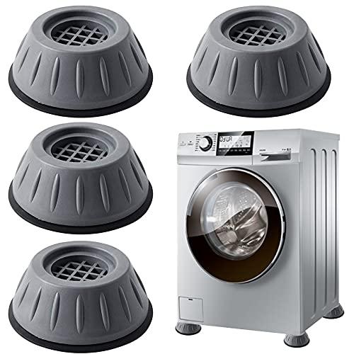 Anti Vibration Waschmaschine Füße,4 Stück Verstellbares Gummi-Fußpolster,Waschmaschine FußpolsterDer Rutschfesten Waschmaschine,Universeller Schwingungsdämpfer für Waschmaschine und Trockner (A)