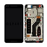 ePartSolution_LCD Display Touch Screen Digitizer Glass + Frame Assembly Black for Huawei Google Nexus 6P H1511 H1512 Replacement Part
