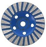 PRODIAMANT Disco abrasivo de diamante 100 mm x M14 – Calidad profesional para hormigón, piedra natural, mampostería, solado, lijadora de disco universal con segmento de diamante