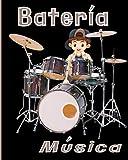 Bateria musica: Para Bateristas Principiantes y Profesionales / Folleto de Partituras en Blanco para Patrón y Retranscripción / 103 páginas / 8x10 / Regalos útiles para mantener el Groove