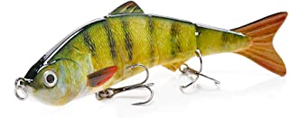 Blure Fishing Lures for Bass – 12cm Jointed Swimbait Minnow – Heavy-Duty Metallic Hook – Ultra-Realistic Life-Like Paintin...