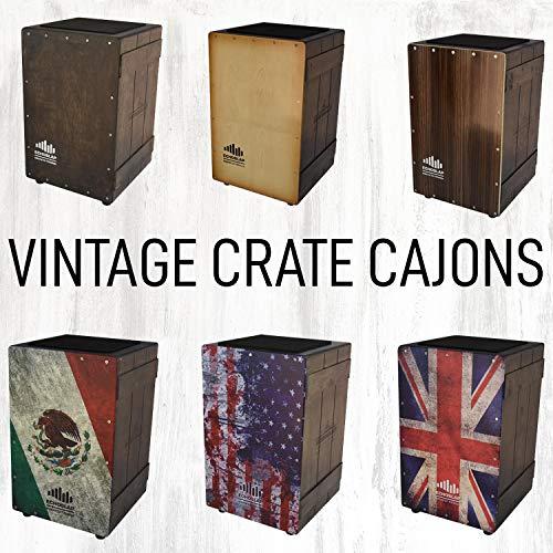 Echoslap Vintage Crate Cajon -Vintage Light, Hand Crafted, Siam Oak Body, Maple Front Adjustable Snare