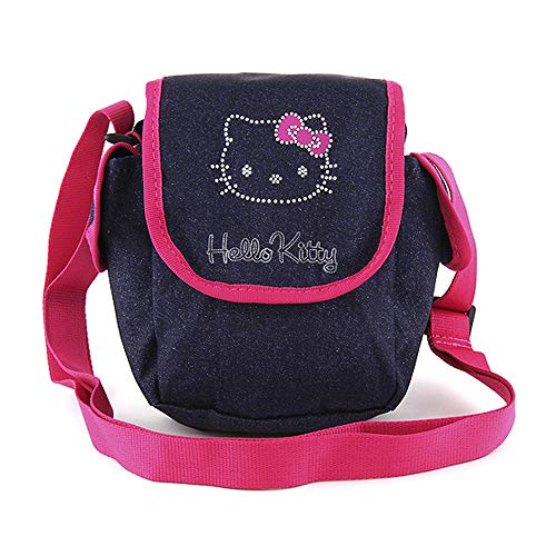 Target Hello Kitty Jeans Umhängetasche Messenger Bag, 21 cm, Blue (Dunkel...