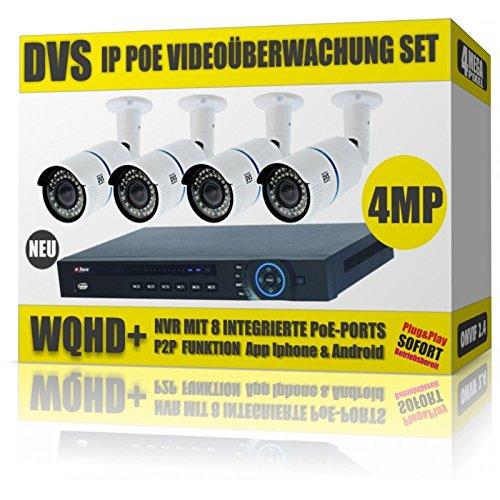 4Mega Pixel POE videosorveglianza Set 4telecamere IP POE E POE NVR–8000GB