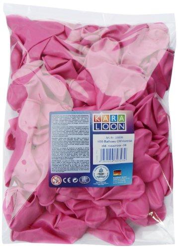 Karaloon G06006 - 100 hartballonnen 30 cm, roze