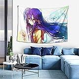 Hdadwy Schwi Dola Shiro No Game No Life 10 Tapisserie Tenture Murale Anime Tapisseries Mur Art Tapisserie Murale Décoration de La Maison pour Chambre Salon Dortoir (40 X 60 Pouces)
