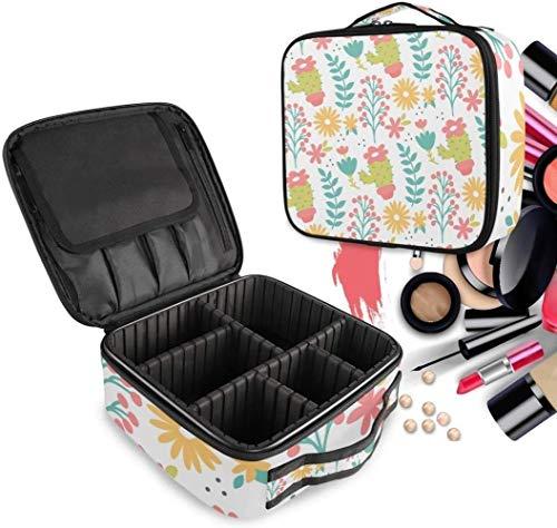 Cosmétique HZYDD Daisy Cactus Flower Make Up Bag Trousse de Toilette Zipper Sacs de Maquillage Organisateur Poche for Compartiment Femmes Filles Gratuit