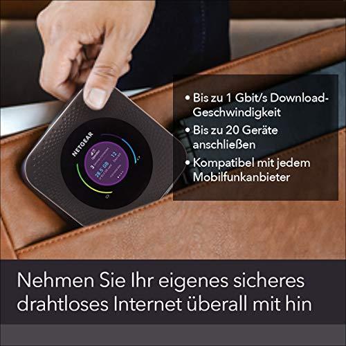 Netgear Nighthawk M1 Mobiler WLAN Router / 4G LTE Router MR1100 (bis zu 1 GBit/s Download-Geschwindigkeit, Hotspot für bis zu 20 Geräte, WiFi überall einrichten, für jede SIM-Karte freigeschaltet)