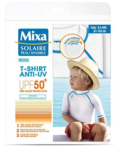 Mixa solaire peau sensible camiseta antirrayos UV, para niño, talla 3–4años