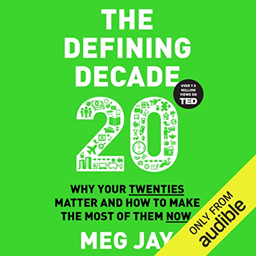 The Defining Decade audiobook cover art