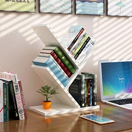 HYLR kreativ Woody Desktop kleine Bücherregale Ablage Rack Buch Regal, Speicher Schreibtisch Veranstalter Datei Regale Massivholz Bücherregal Büro Schlafzimmer Book Holder Storage Bookshelf