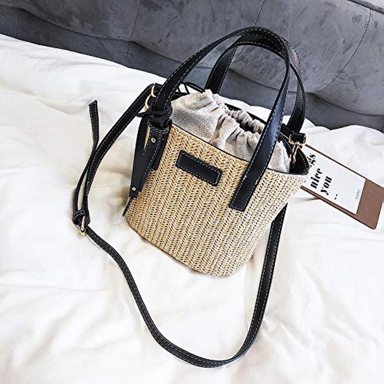 WANGZHAO Women's Bag, Fashion, Straw, Handbag, Pastoral Style, Shoulder Bag, Satchel Bag.