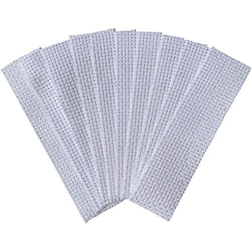 Binca Lesezeichen, Kreuzstich, 100% Baumwolle, 2 x 6 cm, Weiß, 10 Stück