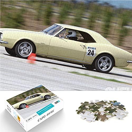Mini 1000 Uds, Desafíese a sí mismo, rompecabezas, coche Hornet, coche clásico, coche deportivo para decoración Popular, rompecabezas de papel para coleccionistas