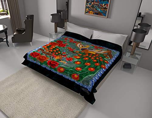 SOLARON Korean Super Thick Heavy Weight Mink Blanket Bed comforters bedspreads Bedding Comforter (Queen, Peacock Green)