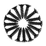 Cabilock 100 Piezas de Clavos de Yeso de Acero Al Carbono * 16 Clavos Cruzados Tornillos de Cabeza Plana Tornillos de Metal Y Madera Surtido para Reparación