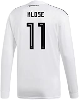 adidas Klose # 11 Germany Home Soccer Long Sleeve Stadium Jersey World Cup Russia 2018