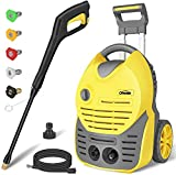 Oasser Electric Pressure Washer Car Power Washer 1600W 140bar 420L/H Portable Car Washer
