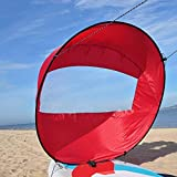 Bluelliant Vela Kayak Accesorios De Canoa Hinchable Barco Piraguas Mar Ocean Portátil Windsurf Deportes Acuáticos, Rojo