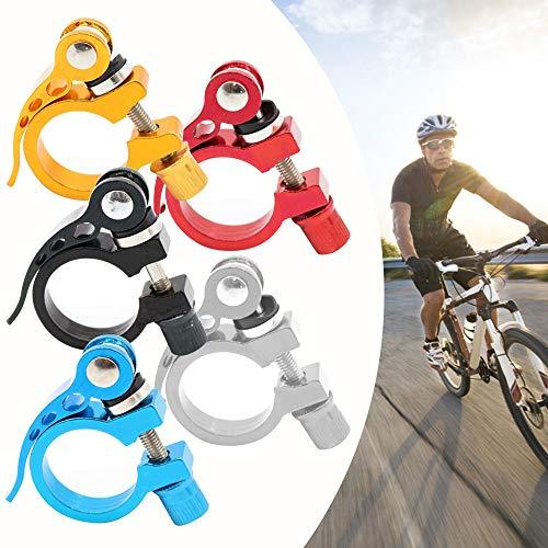 Bestine Fahrrad Sattelstützenklemme, 34,9MM Aluminiumlegierung Fahrradsitzklemme mit Schnellverschluss Passen für 33,5MM zu 35,2MM MTB Fahrrad, 5 Farben (Gold)