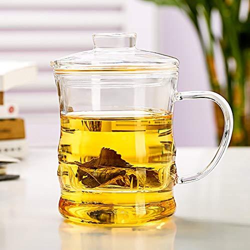 Cosmouk La taza de té de 400 ml es adecuada para la taza de té verde de la taza de té café café café taza taza taza taza taza taza de té whisky taza capuchino taza taza jugo o bebida caliente