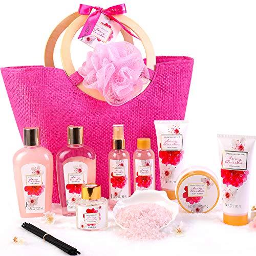 Coffret Bain au Parfum de Fleurs de Cerisier, 11 PCS Coffret...