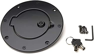RAMPAGE PRODUCTS 85006 Black Billet Style Locking Fuel Door Cover for 1997-2006 Jeep Wrangler TJ