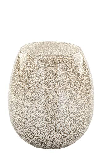 Fink Silva, Vase, Glas, Creme, Höhe 22,5 cm, Durchmesser 19,5 cm 115240