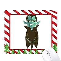 恐怖のハロウィーンの幽霊の幸せ ゴムクリスマスキャンディマウスパッド