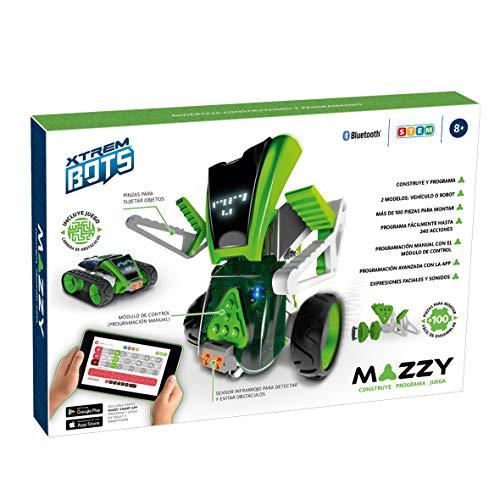 Xtrem Bots - Mazzy, Kit Robot Programmabile Da Montare 2 In 1, Giocattolo Interattivo Bambini, Giochi Educativi Per Bambine 8 Anni O Più, App Gratuita, Stem