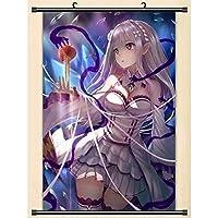 アニメスクロールポスターゼロから始める異世界生活壁画家の装飾壁画16x24inch / 40x60cm