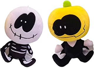 2pcs,Friday Night Funkin Plush Toys,Spooky Month Skid and Pump Plush