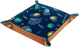 BestIdeas Panier de rangement carré 16 × 16 cm, avec motif géométrique sans couture, boîte de rangement sur table pour la ...