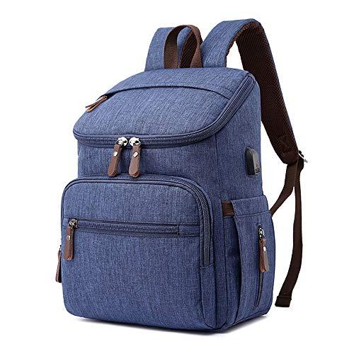 SSZZ tas voor moeders, nonchalante luierrugzak, hoge capaciteit, waterafstotend, met isolatie, voor baby's, reistas met USB, om aan de kinderwagen op te hangen
