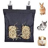 GZGZADMC-Borsa per Fieno,Mangiatoia per Cavie, Borsa per Fieno per Animali Domestici di Alta qualità e Resistente, Adatta per Conigli, Porcellini d'India, Cincillà o Piccoli Animali