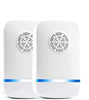 2 Pack Upgrade Ultrasonic Pest Repeller, Indoor Anti Insect, Plug in Pest Control, Electronic Moths Repellent, Against Fle...