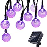 Icicle Halloween Solar String Lights, 20ft 30 LED Outdoor...