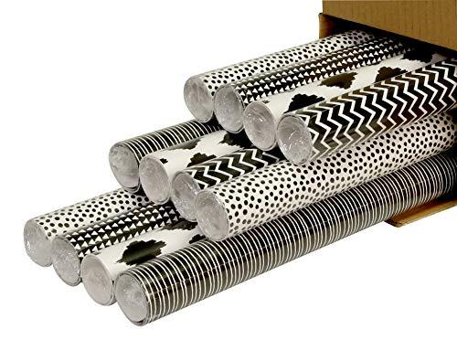 Clairefontaine inpakpapier, 2mx0.70m - zwart en wit, 12 stuks