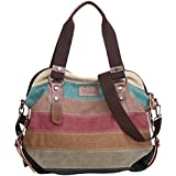 Eshow Women Canvas Shoulder Bag Hobo Handbags and Purse Cross-Body Bag Messenger Bag Travel mom bag for women