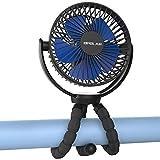OPOLAR 2020年最新版扇風機 フレキシブル三脚扇風機 USB充電式 5200mAh大容量電池 風量3段階調節 自由変形可能 グニグニ曲がる 折りたたみ式 360°回転できる 急速充電 熱中症対策 幅広い使用範囲 ブルー