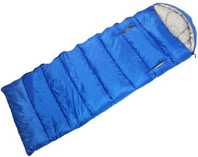 Il peut être étendu aux sacs de couchage d'extérieur, confortable et durable, facile à nettoyer, sac de couchage chaud et épais,bleu
