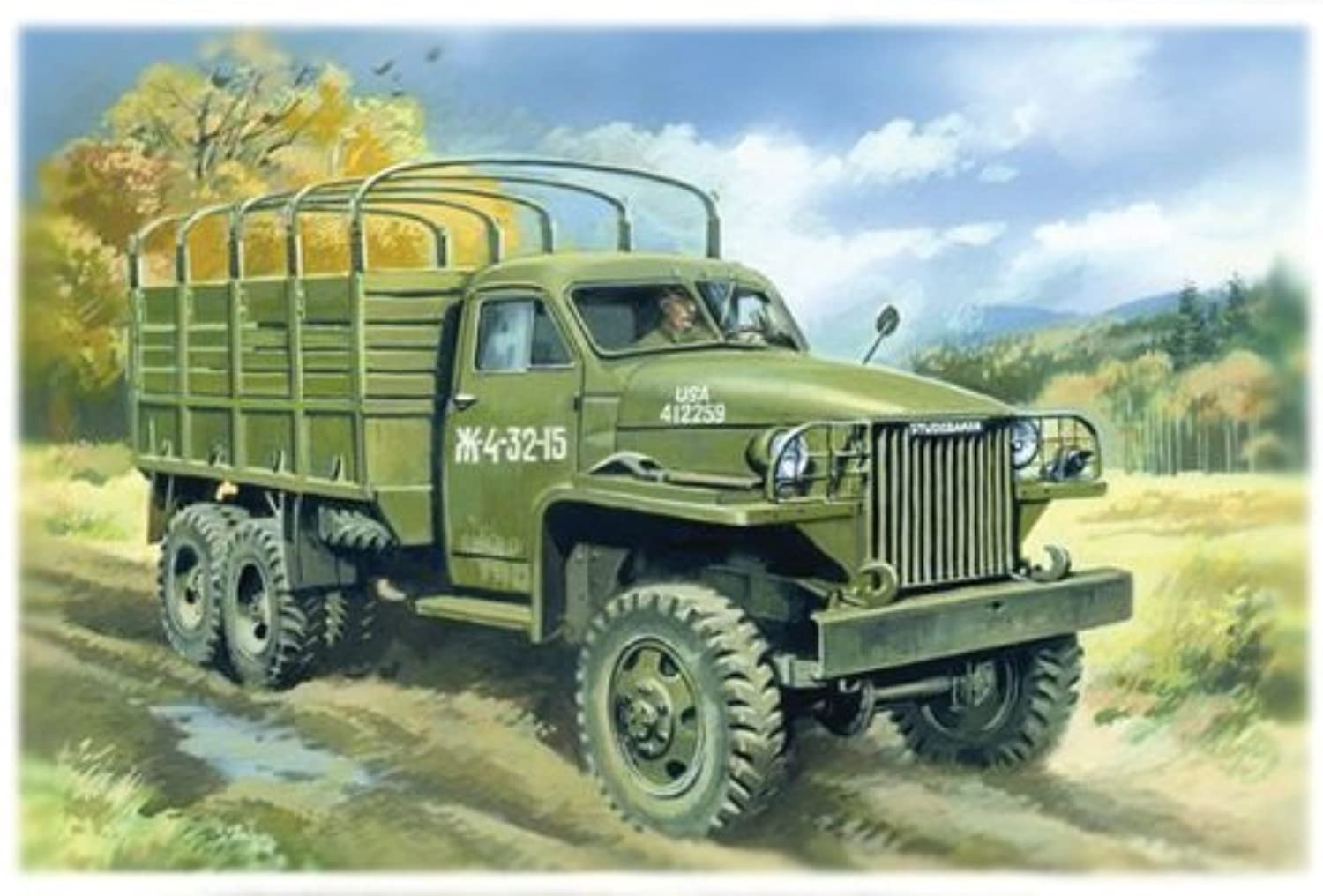 ICM 1 35 Studebaker US-6 WWII Army Truck   35511 by ICM