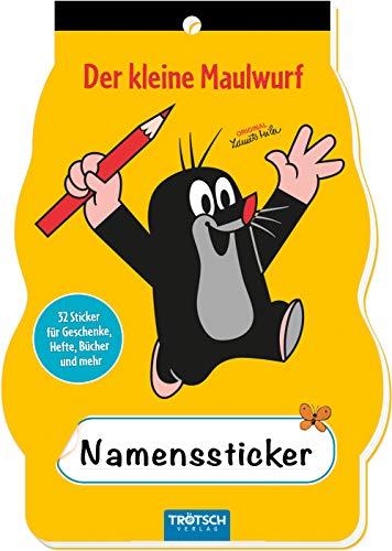 Trötsch Der kleine Maulwurf Namenssticker: Sticker für Schulhefte