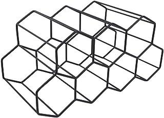 MONLEYTA Modern metallvaxkaka vinställ vinflaska förvaring bikupa bords-vinhylla svart