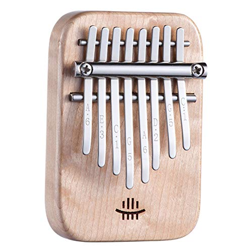 ZZA Kalimba 8 Teclas Thumb Piano Marimba Piano,Mbira Finger Piano Thumb Instrumento para Principiantes Regalo de cumpleaños Ideal día de San Valentín Navidad