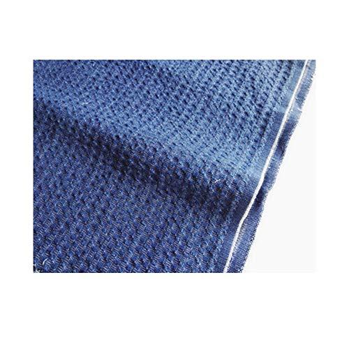 Imitatie geweven jacquard gewassen schort denim stof stof luxe verdikte kleding stof diy handgemaakt (Color : In blue)