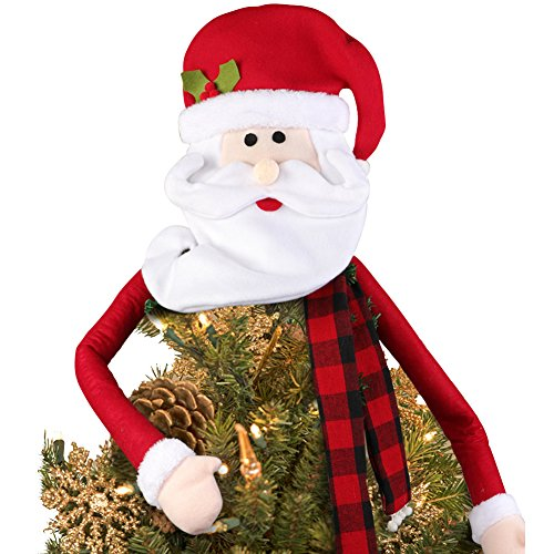 Santa Claus Tree Topper for Christmas Tree