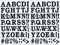 (シャシャン)XIAXIN 防水 PVC製 アルファベット ナンバー ステッカー セット 耐候 耐水 ローマ字 数字 キャラクター 表札 スーツケース ネームプレート ロッカー 屋内外 兼用 TS-519 (ブラック, 2点)