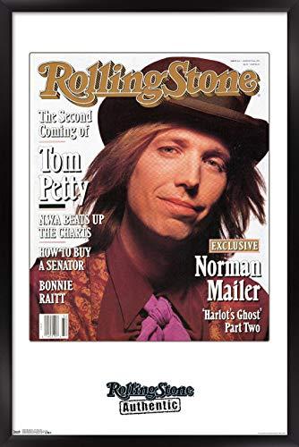 "Trends International Rolling Stone Magazine - Tom Petty 1991 Wall Poster, 14.725"" x 22.375"", Black Framed Version"